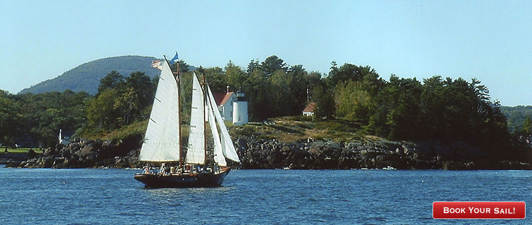 Sail with us past lighthouses and islands on the Maine coast